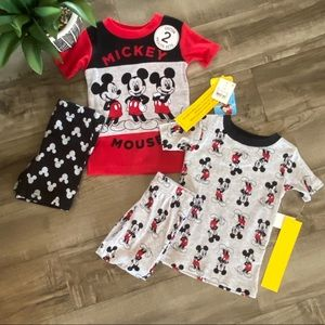NWT!! 2 Sets Mickey Mouse Pajamas 18 months